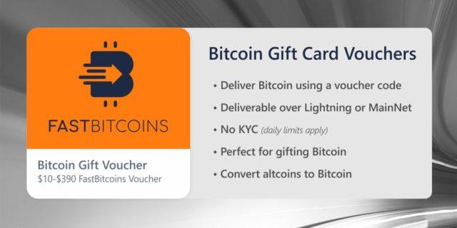 Darčeková karta FastBitcoins