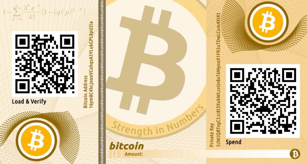Detail BTC papierovej peňaženky